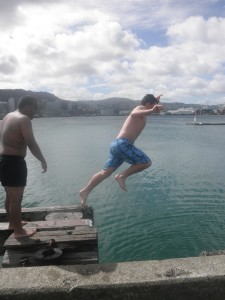 Taking the plunge (photo by author)