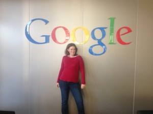 The obligatory pose in front of the google sign.